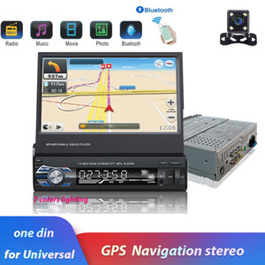 """7"""" Android Mirror Link Car Radio MP5 Player Bluetooth GPS DVD AUX-IN  FM Autoradio Multimedia For Universal Audio stereo"""