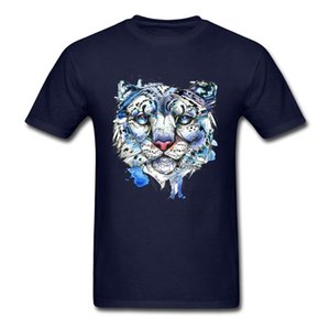 Wholesale Round Neck Icy Snow Leopard Cotton Boy Top T Shirts Casual Short Sleeve Tops Shirt Plain Party Tee Shirt