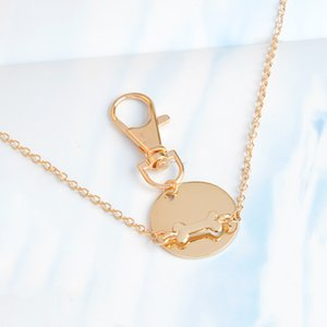 Jewelry Creative Dog Bone Coin Keychain Pendant Necklace Personality Men and Women Friendship Jewelry Explosion Pendant