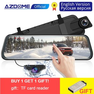 Wholesale AZDOME PG02 Back Camera P Car DVR Dual Lens Dash Cam IPS Touch Screen Rear view Mirror Driving Recording Recorder