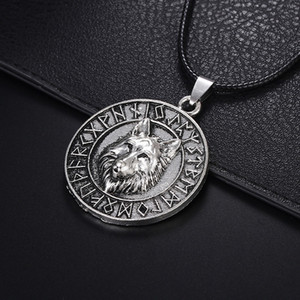 Wholesale Fashion Punk Wolf Head Pendants Statement Necklace Vintange Stainless Steel Choker For Men Jewelry Gifts Accessories