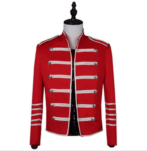 Wholesale jackets spikes for sale - Group buy Spike personality blazer men suits designs jacket mens stage red singers clothes dance star style dress punk rock masculino homme