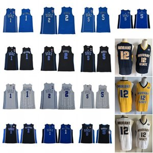 c5a05f9cda8 NCAA 1 Zion Williamson Duke Blue Devils College Jersey 12 Ja Morant Murray  State 5 RJ