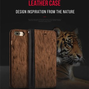 Wholesale Bionic Tiger Skin Pattern Phone Case Business Color Matching Style Design Card Holder Function Leather Phone Cover for iPhone7 plus Plus