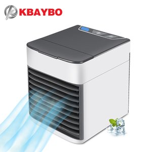 Wholesale KBAYBO USB Air Conditioning Fan Mini Air Cooler Refrigeration Mobile portable air conditioner with Colors LED light for Home