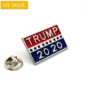 US Stock TRUMP 2020 Symbol Badge Coupon Star Admission Tickets Cool Poker Brooch Coat Jackets Backpack Lapel Pins Movie Fans Gifts FY6103