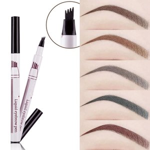 Wholesale dye eyebrows brown for sale - Group buy New Eyebrow Pencil Waterproof Fork Tip Eyebrow Tattoo Pen Head Fine Sketch Liquid Dye Tint Pen