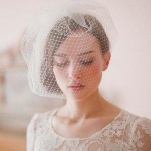 Wholesale White Black Tulle Cap Bird Cage Wedding Accessories Veil Bridal Birdcage Wedding Veils Short Bridal Accesories