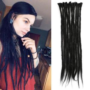 Mtmei Hair Handmade Dreadlocks Hair-Extensions Reggae Hair Hip-Hop Style Faux Locs Crochet Hair Crochet Braids 1 Strands 7g Pack