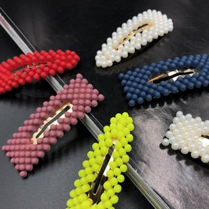 New Fashion Neon Color Frosted Beads Fairy BB Clip Women Girl Simple Cute Beading Beautiful Hairpins Hair Accessories