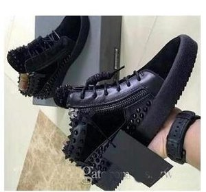 Wholesale 2019 New Italian Brand Designer Top Men Women Zapatillas guiseppes real leather rivet recreational Casual shoe arena sneakers
