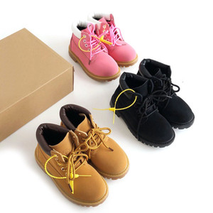 Wholesale Baby Cat Kids Juniors Tire Leather Martin Boots Children Boys Girls High Quality Classic Yellow Pink Black Outdoor Casual Shoes Size