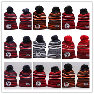 Wholesale 2019 New Arrival Sideline Beanies Hats American Football teams Sports winter side line knit caps Beanie Knitted Hats drop free shippping