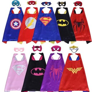 1set 9pc Mask +9pc Cape Super Man The Flash Cloak Children's Day Gift Kid Birthday Party Supplies