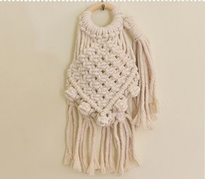 Wholesale Mini Macrame Wall Hanging Handmade Cotton Rope Tapestries Woven Macrame Charm Small Size Bohemian Home Decoration