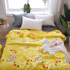 Wholesale Summer Quilt Cover air conditioning quilts cover children single cartoon flower Comforters washable bed home