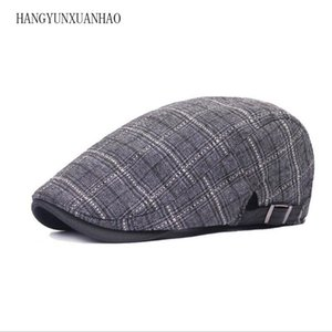 Wholesale Brand Fashion British Style Summer Sun Hats for Men Women High Quality Casual Cotton Women Beret Caps Adjustable Plaid Flat Cap