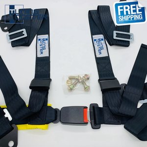 """Free Shipping 2"""" 4 Point Competition Style Racing Harness Safety Belt Seat Harness Snap-In Seat Belt"""