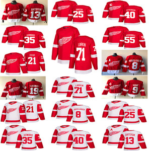 ala roja de detroit al por mayor-2018 Detroit Red Wings Jerseys Hockey Pavel Datsyuk Henrik Justin Abdelkader Steve Yzerman Larkin Howe Tatar hockey
