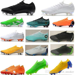 Wholesale 2018 Mens Woman Girl Mercurial Superfly VI Elite Ronaldo FG ACC Soccer Shoes Chaussures Boy Football Boots Children Neymar Soccer Cleats