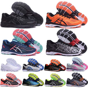 ASIC GEL-KAYANO 23 Men Women Tennis Running Shoes Triples White Black Jogging Sneakers Authentic Designer Sneakers Sports Shoes Size 36-45