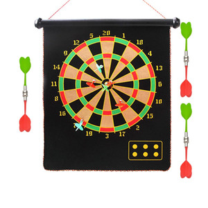 (A238X) Magnetic Dart Board Dartboard Roll Up Darts Hang Indoor Fun Double Sided Toy New