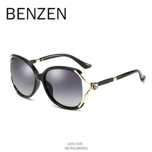 Wholesale Luxury Rhinestone Sunglasses Women Polarized Female Sun Glasses UV400 Ladies Shades Driving Glasses Black With Case