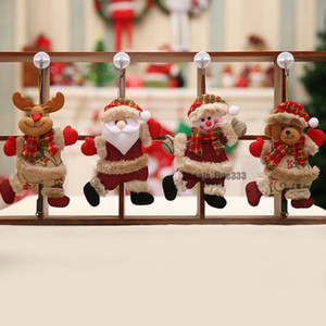 Wholesale 2019 Merry Christmas Ornaments Christmas Gift Santa Claus Snowman Tree Toy Doll Hang Decorations for home Enfeites De Natal