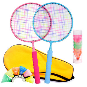 Wholesale ball badminton rackets for sale - Group buy Children s Beginners Trainer Exercise Badminton Racket Nylon Ball Set Outdoor Parent Child Sport Game Fitness Toy Badminton