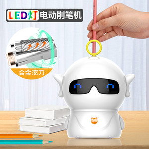 new Dual power supply mode Cute Cartoon Kawaii Style Crayon Sharpener Electric Pencil Sharpener for Kids and School Class Room Office