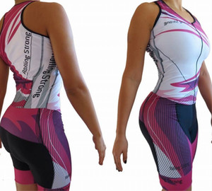 Wholesale 2019 custom made Pro Team Triathlon Suit Women s Sleeveless sleeve Cycling Jersey Skinsuit Jumpsuit Maillot Cycling Ropa ciclismo set gel