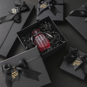 New Spot Crystal Black Gift Box Set Christmas Valentine's Day Cosmetic Box Color Printing Carton Factory Direct