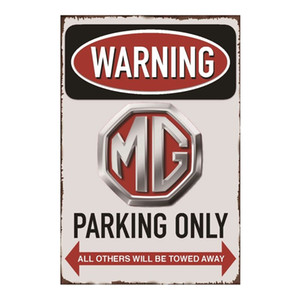 MG Parking Only Vintage Metal Tin sign poster for Man Cave Garage shabby chic wall sticker Cafe Bar home decor