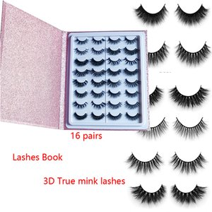 Wholesale New style popular mink Lashes Silk eyelashes D mink eyelashes mm pairs lashes book Thick long Lashes False Eyelash box eyelash book