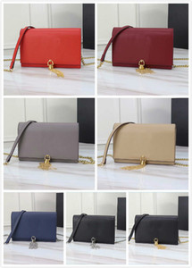 Wholesale European Retro Fashion Lady Square bag 2019 New Quality PU Leather and Cowhide material Women's Designer Handbag Tassel Chain Shoulder Mess