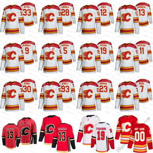 2019 Calgary Flames Custom S-6XL Heritage Classic Michael Stone Johnny Gaudreau Matthew Tkachuk James Neal Giordano Backlund Hockey Jerseys
