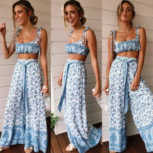 Women Shorts Sleeve Crop Top Casual Loose Jumpsuit Long Pants Outfits 2pcs Cover-Ups