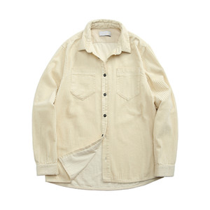 topstoney 2020konng gonng Functional corduroy mens shirt spring and autumn fashion brand casual coat Corduroy Long Sleeve Shirt