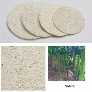 6*6cm Roud Natural Face Loofah Pad Luffa Makeup Remove Sponge Loofa Exfoliating and Dead Skin Bath Shower Tool LJJ_A984