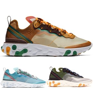 Wholesale New React Orange Peel Royal Tint Moss Element Men Running Shoes For Women Designer Sneakers Sports Mens Trainer Shoes Sail Light Bone