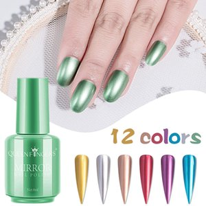Wholesale Hot 8ml Mirror Effect Metallic Nail Polish Purple Rose Gold Silver Chrome Nail Art Varnish For Nails Manicure Lacquer