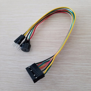 Wholesale Integration Host Speaker Reset Power Switch HDD LED Jumper Line Flat Cable Replace Q Connector For Mainboard PC DIY