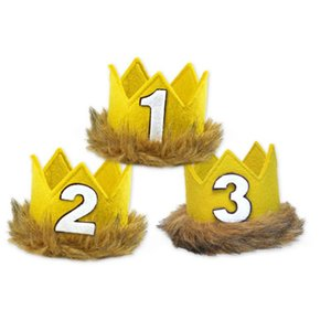 Newborn Lovely Baby Unisex Birthday Crown Headband Number Hair Baby Accessories Princess Style Birthday Party Hat