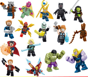 Wholesale Avengers Super Heroes INFINITY WAR thanos Hulk doctor stranger Thanos black panther Spiderman Building Blocks Toys