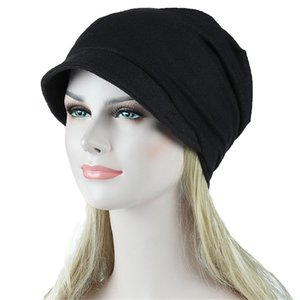 Wholesale Women s Hat NEW Casual India Muslim Stretch Headband Stripe Solid Color Adjustable Headband Chemotherapy Cap Hair Loss Hat