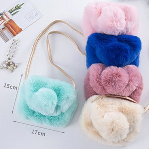 2019 New Cute Children Princess Girl Kids Mini Cross Body Bag Fashion Bowknot Imitation Fur Shoulder Messenger Bag Purse S5068 on Sale