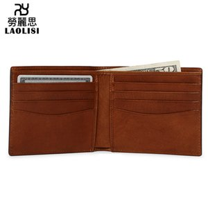 Wholesale Lucky2019 Leather Genuine Guangzhou Luggage And Bags Factory Short Fund Man Head Layer Cowhide Wallet