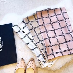 Wholesale Fashionable women spring and summer silk scarf shawl letter lattice thin scarf shawl women summer sun scarf shawl