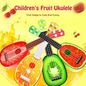 Wholesale Mini Guitar String Instruments Musical Ukulele Cute Kids Fruit Guitar Creative Gift Box Toy Early Childhood Music Instrument kids toys