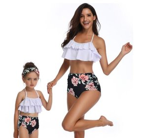 kinder mädchen badeanzug bikini großhandel-Rabatt Eltern Kind swiwear Badeanzug Bikini Anzug split Kinder Frauen Mädchen Kinder sexy yakuda flexible stilvolle Leopardenmuster bikini sets